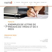 Exemple de lettre de préavis de 1 mois et de 3 mois